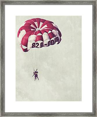 Parasailing The Caribbean Framed Print by Melanie Lankford Photography