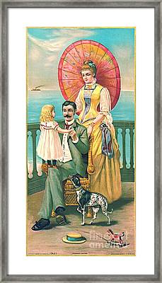 Parasol 1889 Framed Print by Padre Art