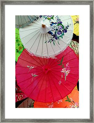 Parasols 1 Framed Print by Rodney Lee Williams