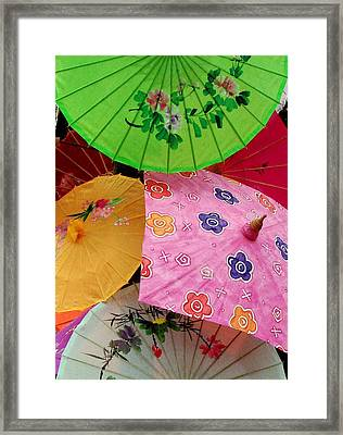 Parasols 2 Framed Print by Rodney Lee Williams