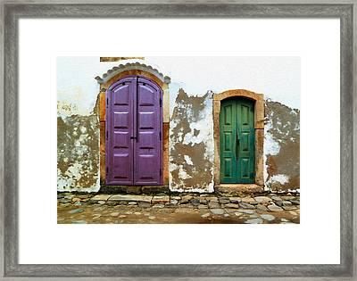 Paraty Doors Framed Print
