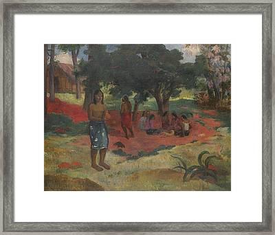 Parau Parau , 1892 Framed Print