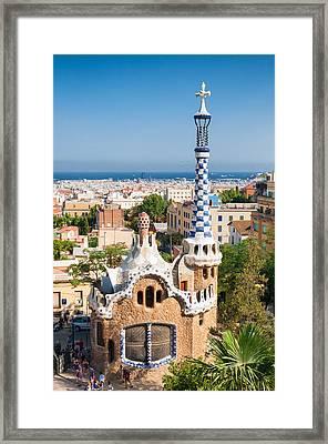 Parc Guell Barcelona Antoni Gaudi Framed Print by Matthias Hauser