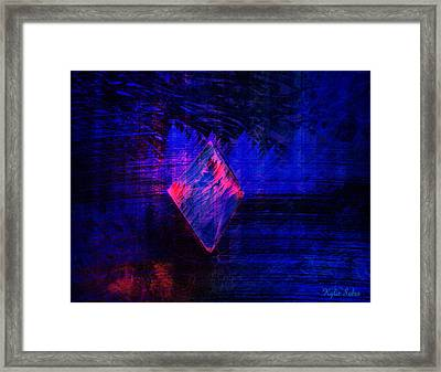 Framed Print featuring the digital art Parched Rainforest by Kylie Sabra