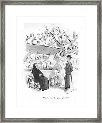 Pardon Me. Are You A Grisette? Framed Print by Helen E. Hokinson