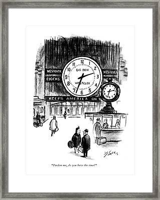 Pardon Me, Do You Have The Time? Framed Print by Joseph Farris