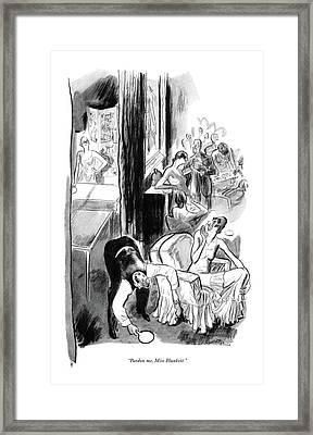 Pardon Me, Miss Plunkett Framed Print by Garrett Price