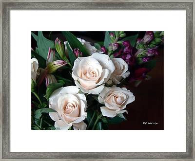 Framed Print featuring the photograph Pardon My Blush by RC deWinter
