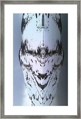 Pareidolia Alien Landed In Algeria  Framed Print