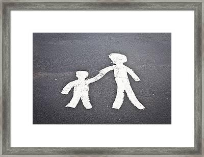 Parent And Child Marking Framed Print