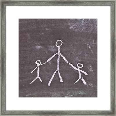 Parent And Children Framed Print