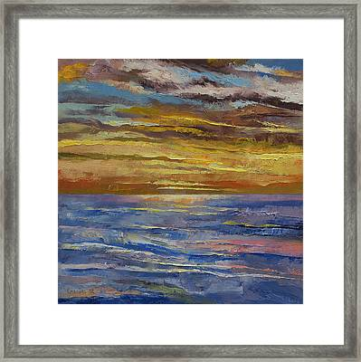 Parfait Sunset Framed Print by Michael Creese