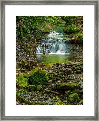 Parfrey's Glen Waterfall Framed Print