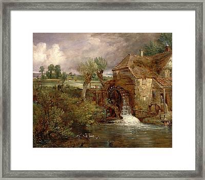 Parham Mill, Gillingham Mill At Gillingham, Dorset Framed Print