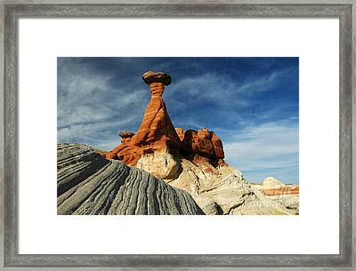 1010a Paria Canyon Rock Formation Framed Print by NightVisions