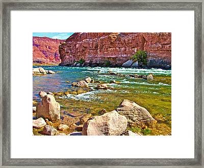 Pariah Riffle Near Lee's Ferry In Glen Canyon National Recreation Area-arizona Framed Print
