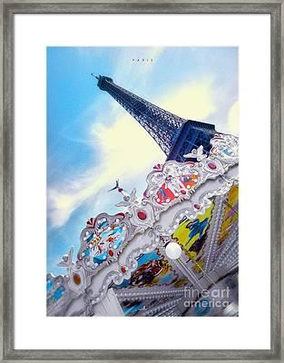 Paris - Caroussel Framed Print by ARTSHOT - Photographic Art
