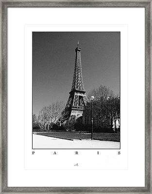 Paris - Eiffel Tower Framed Print by ARTSHOT  - Photographic Art