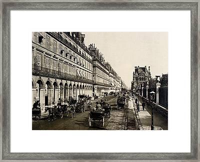 Paris 1900 Rue De Rivoli Framed Print by Ira Shander