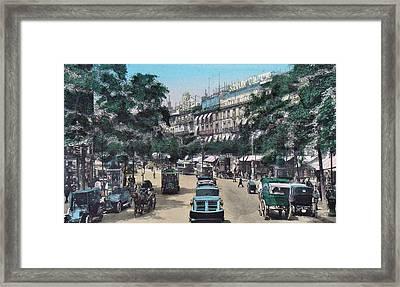 Paris 1910 Boulevard Des Italiens Framed Print by Ira Shander