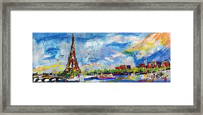 Paris A New Day Framed Print by Ginette Callaway