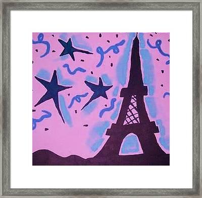Paris Alive Framed Print by Krystyn Lyon