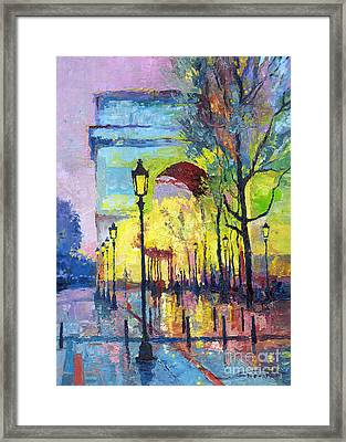 Paris Arc De Triomphie  Framed Print by Yuriy  Shevchuk