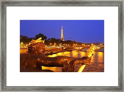 Paris At Night Framed Print by Dan Breckwoldt