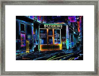 Paris At Night Framed Print by EricaMaxine  Price