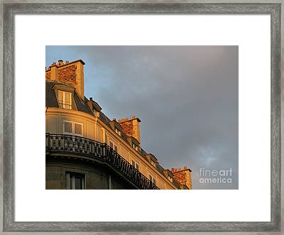 Framed Print featuring the photograph Paris At Sunset by Ann Horn