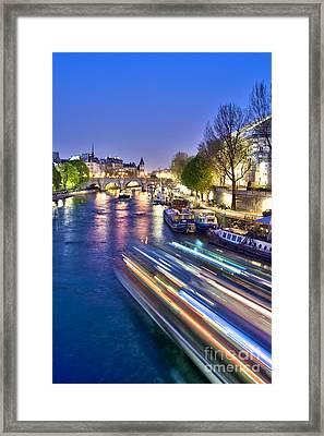 Paris Blues Framed Print