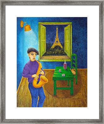 Paris Blues Framed Print by Pamela Allegretto