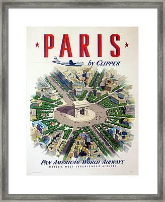Paris By Clipper Framed Print