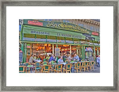 Paris Cafe In Summer Framed Print by Matthew Bamberg