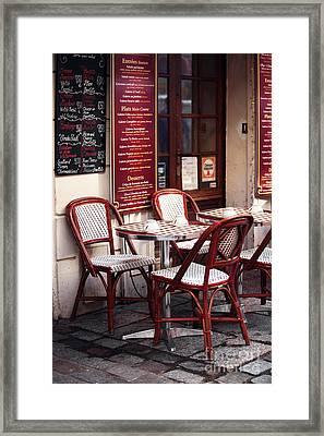Paris Cafe Framed Print by John Rizzuto