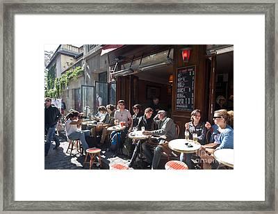 Paris Cafe Life Framed Print
