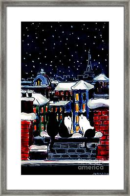 Paris Cats Framed Print by Mona Edulesco
