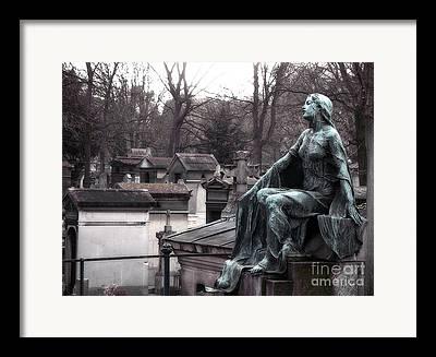 Paris Pere La Chaise Cemetery Framed Prints