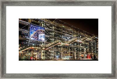 Paris Centre Pompidou Framed Print by Tomas Horvat