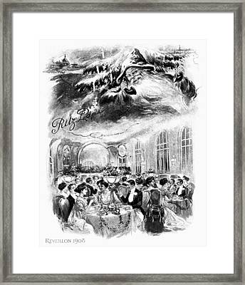 Paris Christmas, 1908 Framed Print