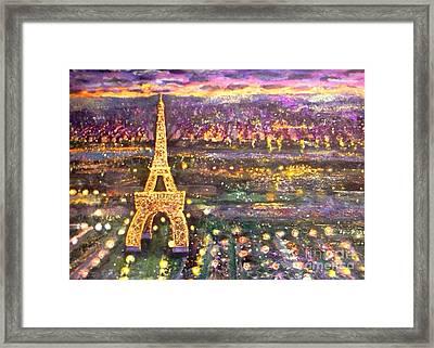 Paris City Of Lights Framed Print