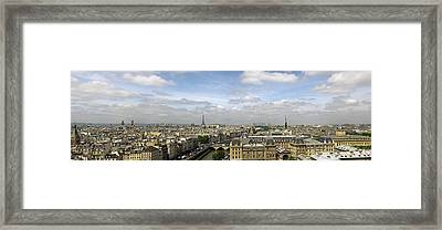 Paris City Skyline Framed Print by Vii-photo