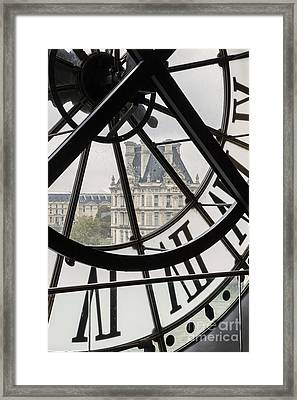 Paris Clock Framed Print