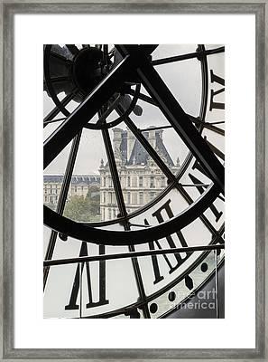 Paris Clock Framed Print by Brian Jannsen