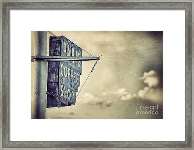 Paris Coffee Shop Framed Print
