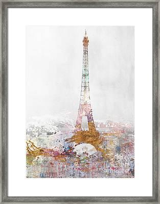 Paris Color Splash Framed Print by Aimee Stewart