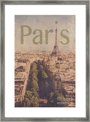 Paris Framed Print by Diane Diederich