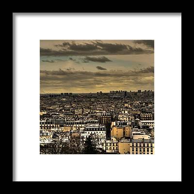 Paris Skyline Framed Prints