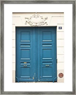 Paris Door Framed Print by Georgia Fowler