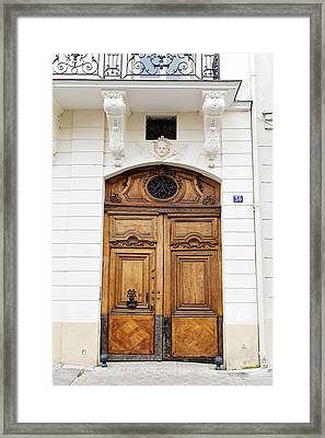 Paris Door - No. 30 - Paris Photography Framed Print